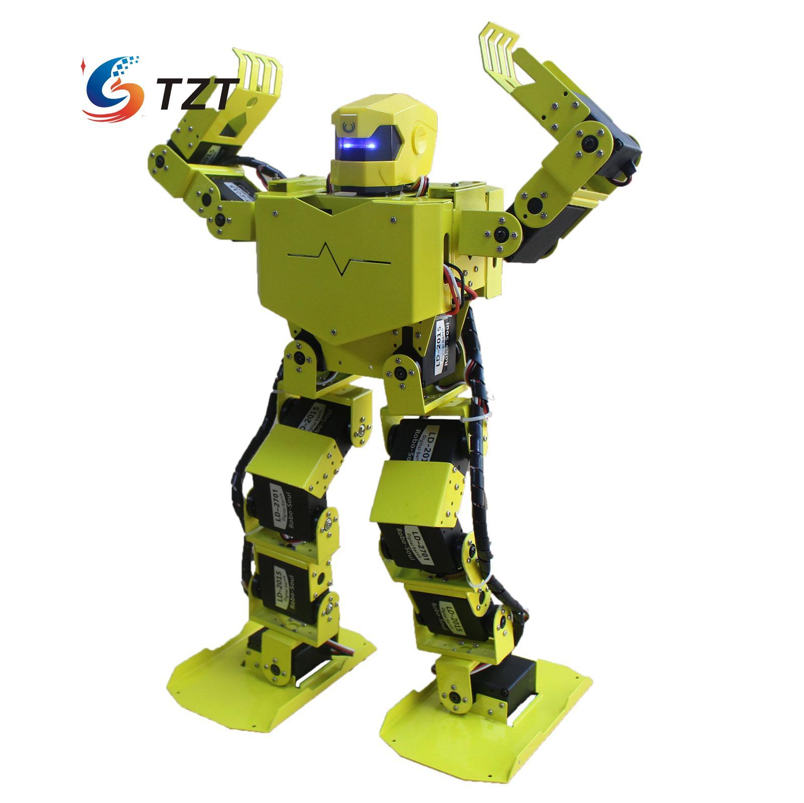 16DOF Robo-Soul H3.0 Biped Robotics Two Leg Human Robot Aluminum Frame Kit with Servos & Helmet Unassembled soldier king 16dof smart humanoid robot frame kits contest dance biped robotics with servos for diy unassembled