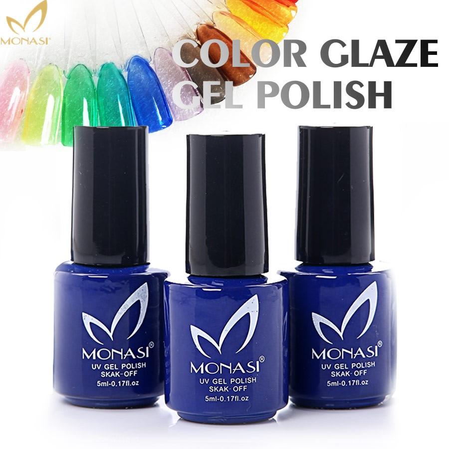 MONASI 16 Farben Glasur LED UV Gel Lacke 5 ml Beliebtesten Polituren ...