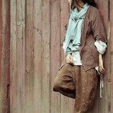 Original design during autumn season one hundred percent cotton linen lady's loose big yards joker shirt