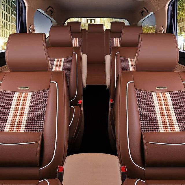 de nieuwe business 7 zitkussen pu lederen bekleding zeven auto accessoires interieur