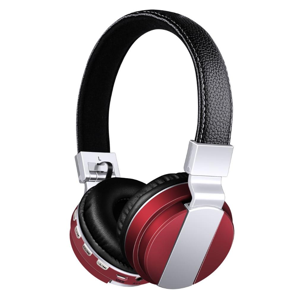 6bbc5f0c7ca SWZYOR BT008 Wireless Bluetooth Headphone Foldable Metal Sport Headset With FM  Radio /AUX/TF Card MP3 Stereo Headband Earphone -in Bluetooth Earphones ...