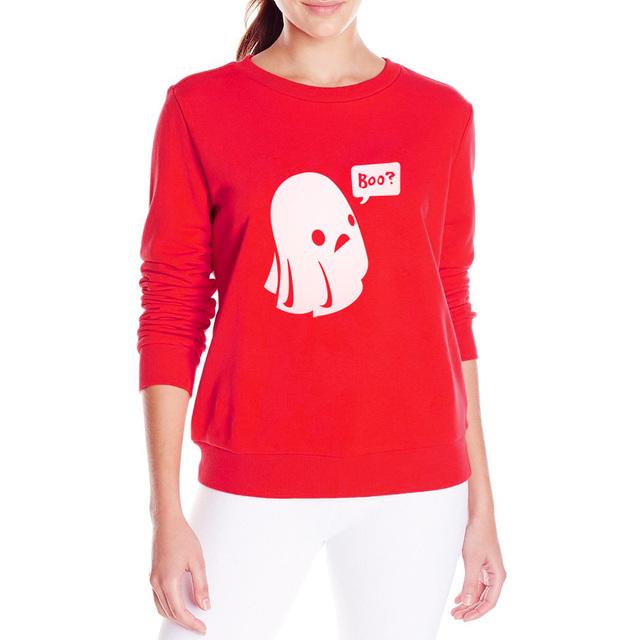 Ghost Boo Printed Halloween Kawaii Sweatshirt