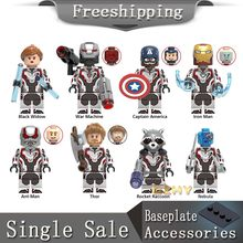 Vengadores 4 Endgame Quantum Suit superhéroes figuras Pop Thanos Thor Rocket War Machine Hulk bloques de construcción juguetes X0251(China)