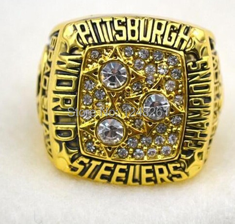 79005dfaa NFL 1974 1975 1978 1979 2005 2008 all Pittsburgh Steelers Super Bowl  replica Championship Rings solid-in Rings from Jewelry   Accessories on  Aliexpress.com ...
