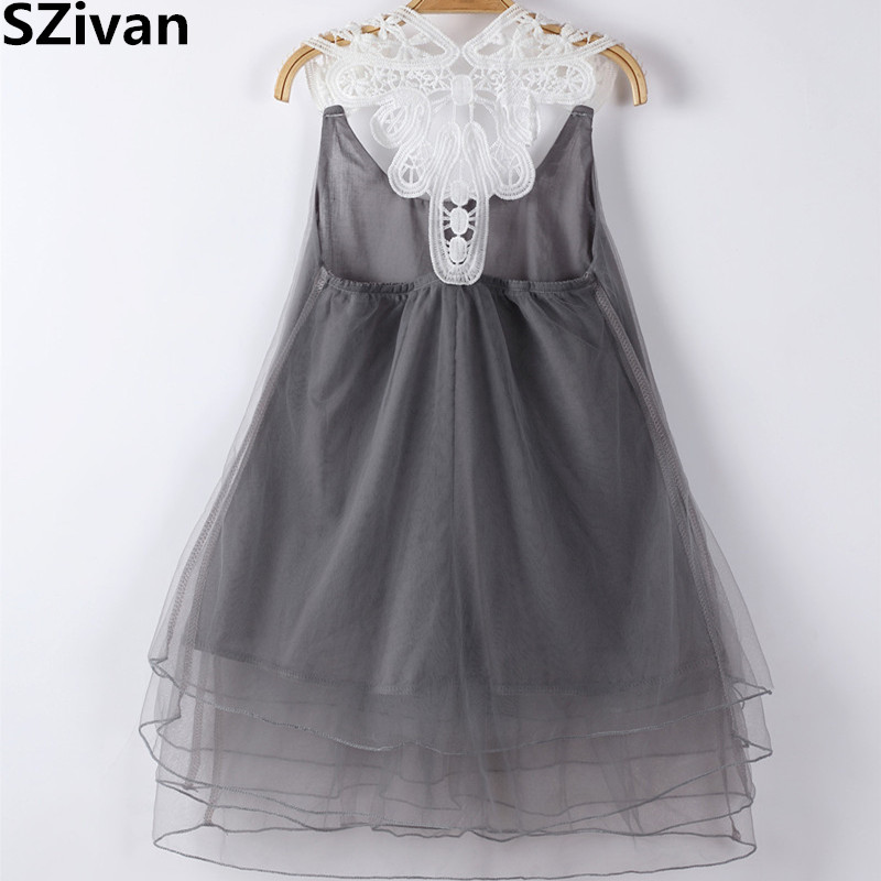 Girls Clothes For Kids Party Wear Baby Girl Floral Lace Princess Dress Mesh gown for girls casual kids baby girls white lace floral long sleeves dress princess party dress ball gown dresses clothes