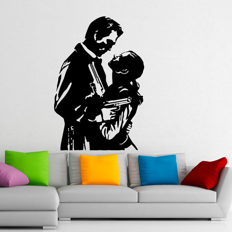 Famous movie pattern wall decals lovers design art murals bedroom decor vinyl wall stickers in wall stickers from home garden on aliexpress com alibaba