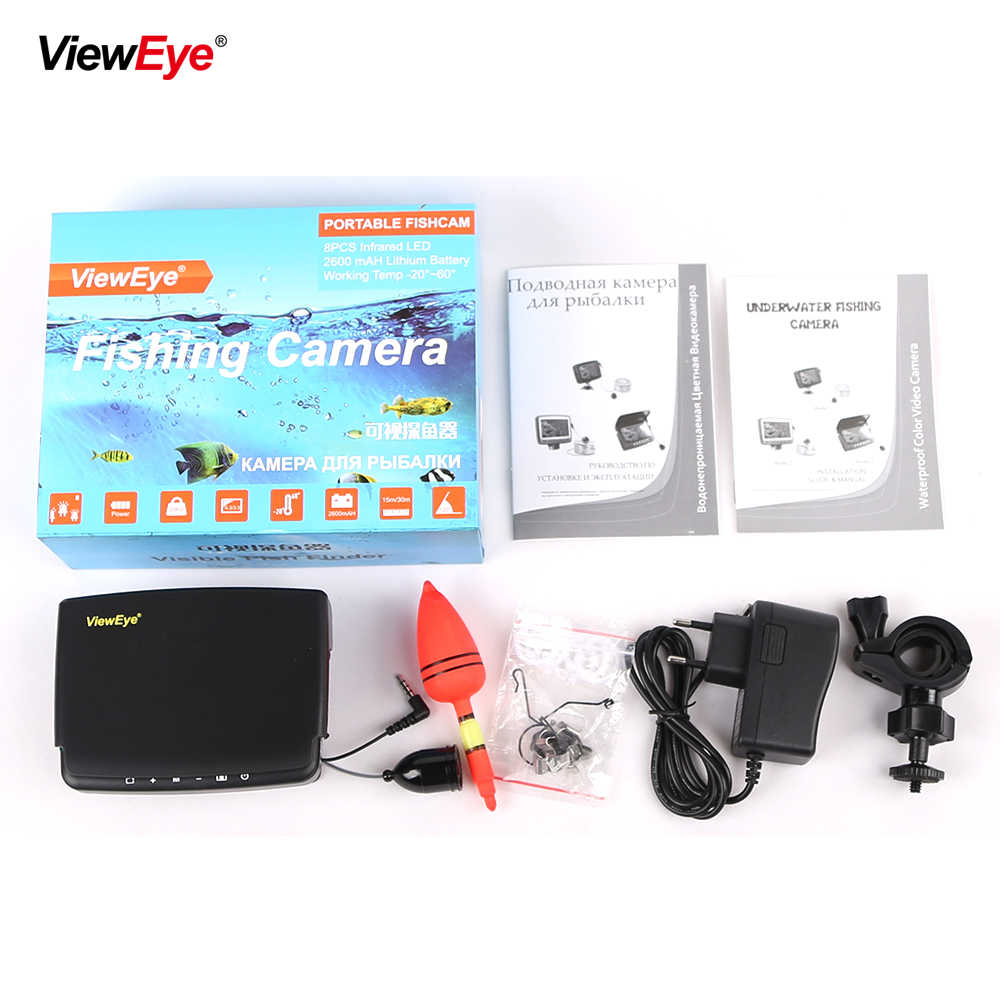 Visible Video Fish Finder Underwater Ice Video Fishfinder Fishing Camera IR Night Vision 4.3 inch monitor camera kit 1000TVL 15m