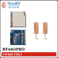 2pcs/lot High Receive Sensitivity (-121 dBm) Si4463 Embedded 868MHz FSK RF Module RF4463PRO  For Remote Control Receiver