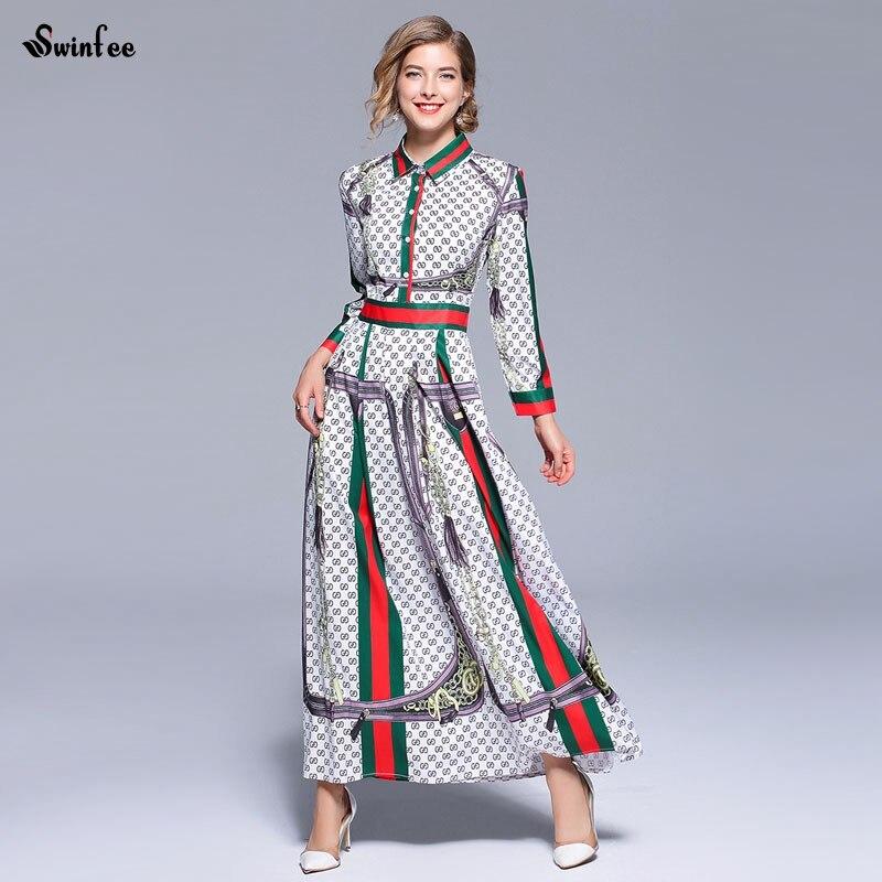 Detail Feedback Questions about Vintage Print Autumn Maxi Dress 2018 Dames Women  Long Retro Party Dress Robe Longue Femme on Aliexpress.com  e2a9e7fa3747