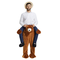 Ride On Teddy Bear Carry Me Mascot Costume Beer People Piggy Back Novelty Fancy Dress Costume