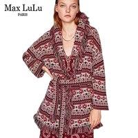 Max LuLu 2017 Europa Casual Retro Frauen Winter Pullover Strickjacke Gestrickte Baumwolldruck Pullover frauen Weihnachten Jumper Kleidung
