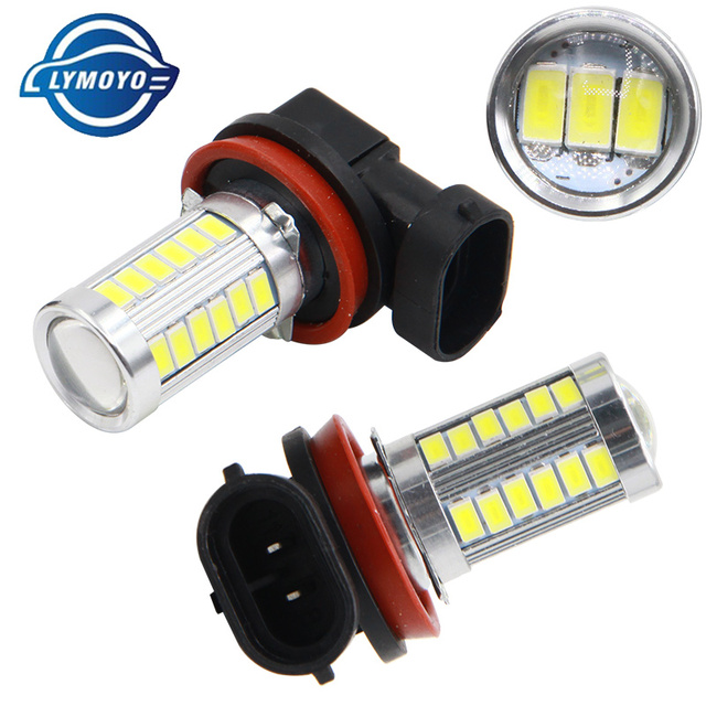 1PCS Car H8 H11 led 9005 hb3 9006 hb4 h4 h7 p13w H16 5630 33SMD Fog Lamp Daytime Running Light Bulb Turning Parking Bulb 12V