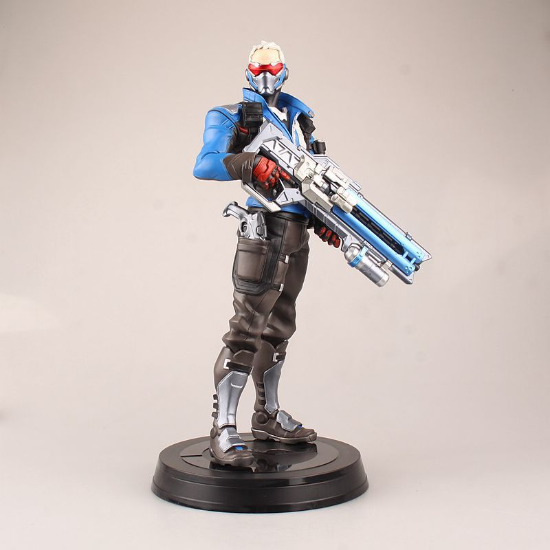 Love Thank You game watch Soldier 76 26CM PVC Anime figure toy Model gift new twister family board game that ties you up in knots