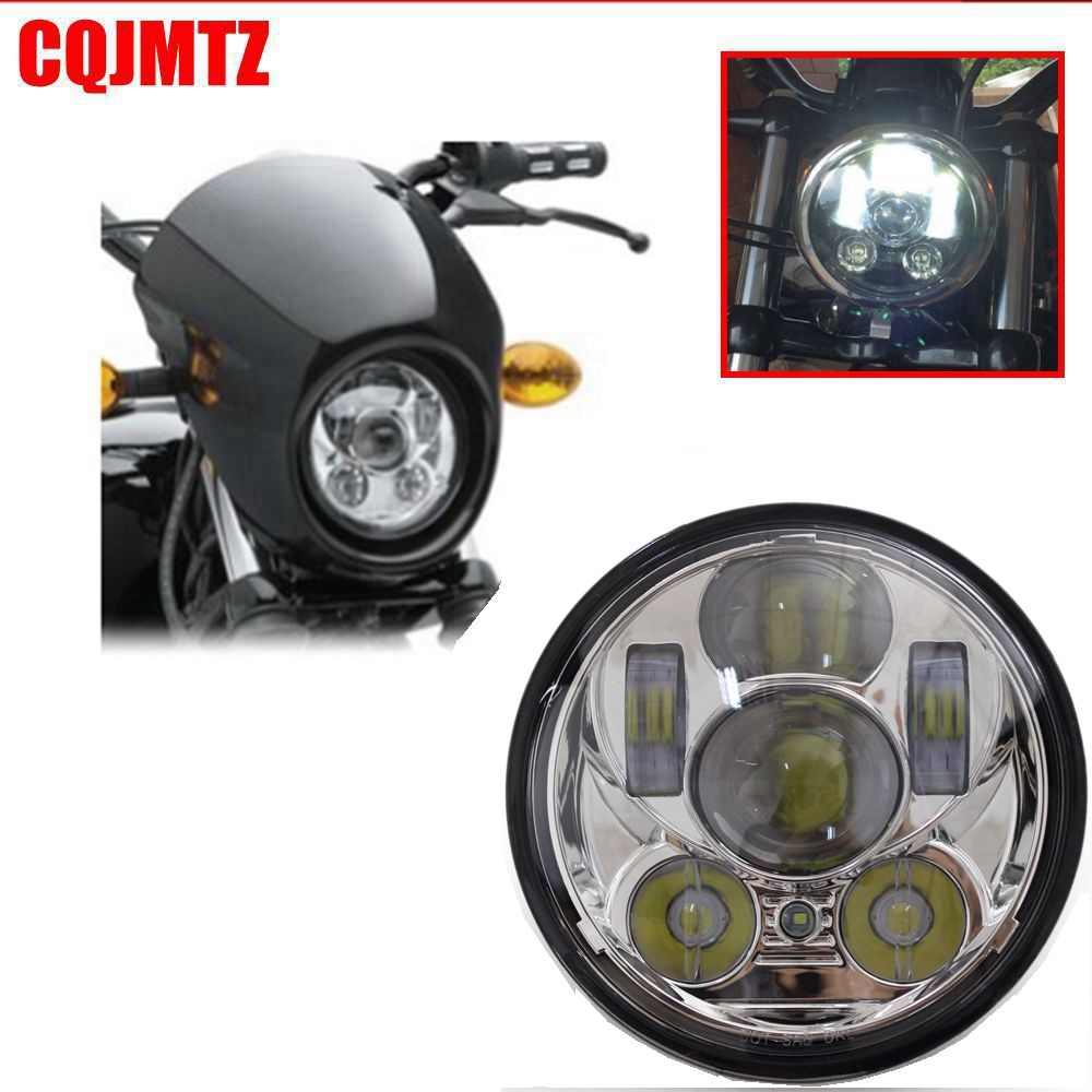 CQJMTZ High Quality Aluminum 5 3/4 Inch LED Motorcycle Headlight Headlamp For Harley XL883C XL1200C 98-Up