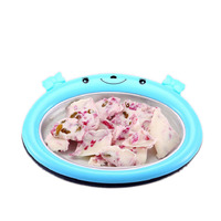 JamieLin Hot sale home fried yogurt machine children ice cream maker small fry ice roll plate pan