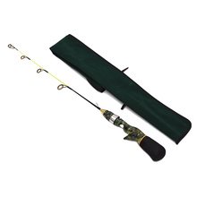 50cm / 60cm Ice Fishing Rod Winter Fishing Tackle Mini Pole Ultra Light Rod Camouflage Green camouflage Composite fiber