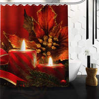 Custom Christmas Gifts Decorations Classic Home Setting Bathroom Decoration Shower Curtain High Quality 60 X 72