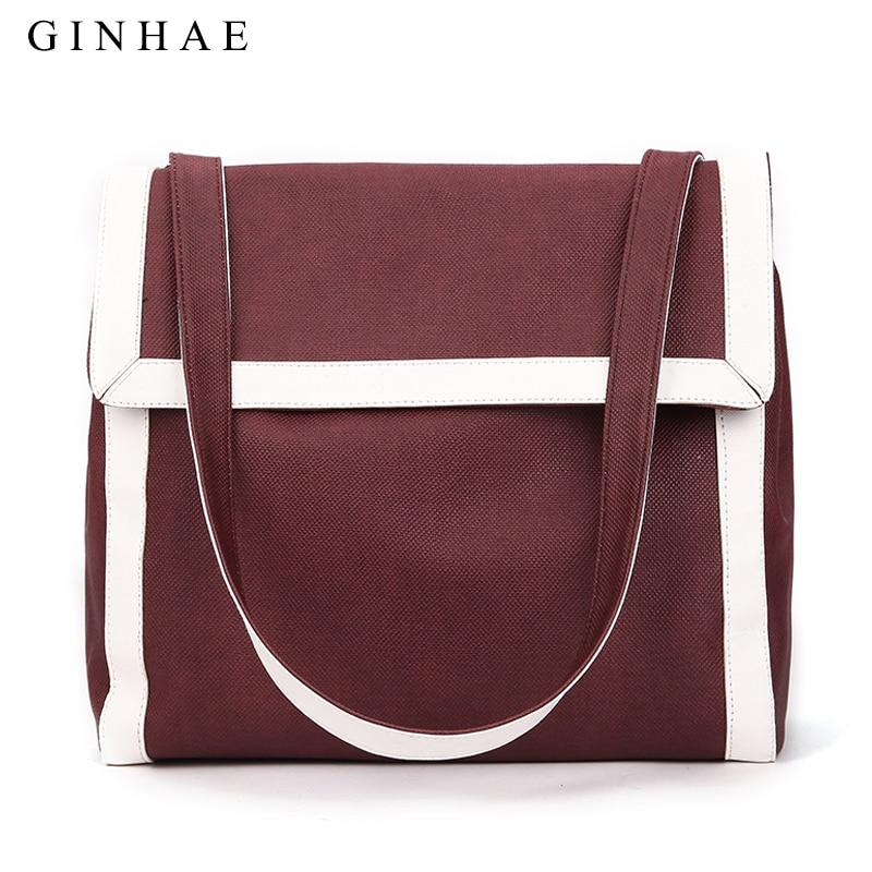 Fashion Large Capacity Solid Women Handbag Simple Lady Soft Pu Leather Shoulder Bag High Quality Big Shopping Tote Bag For Girls