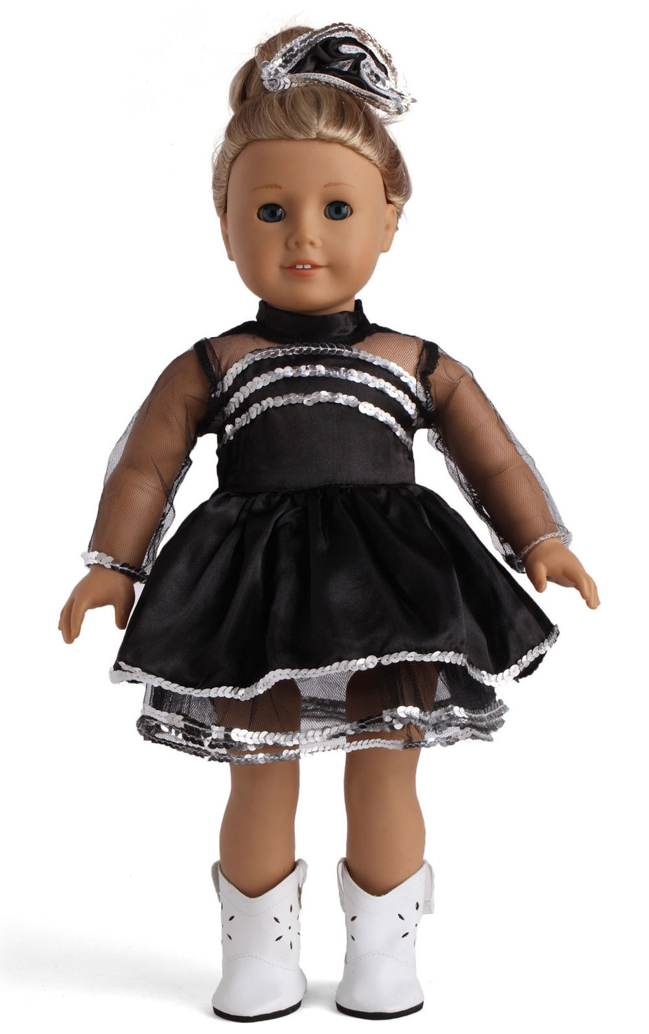 New 18 Inch American Girl Doll Black Dancing Dress For -4465