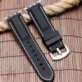 42/38mm silicone branco/linha vermelha costura mergulho watch band para apple watch strap para iwatch esportes fivela pulseira de substituição
