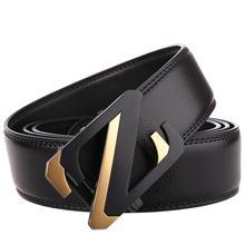 Cowhide Mens Belts Genuine Leather Male Luxury Waist Strap Belt Designer Men Z Buckle Fashion Black Brand