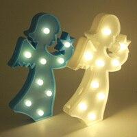 الملاك النمذجة جنية الليل abs البلاستيك الصمام الجدول مصباح مكتبي الداخلية جو الزفاف الديكور adesivo