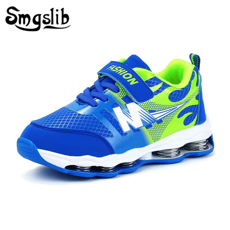 Kids Shoes Boys Sports Mesh Sneakers 2019 Spring Autumn Child Running Shoes Baby Girls Pu Leather Casual Shoes Breathable Shoes