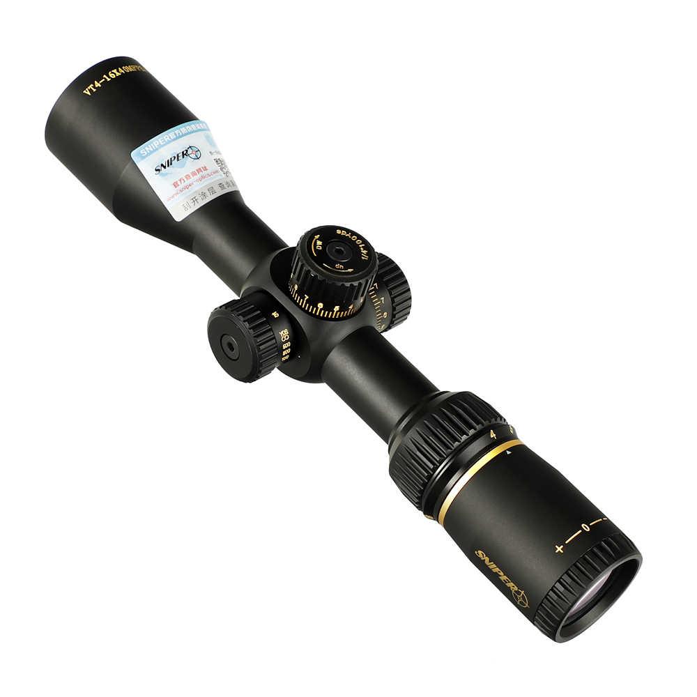 SNIPER VT 4-16X40 MFPSA First Focal Lato AO di Vetro Acidato Reticolo Tactical Optical Sight Cannocchiali da fucile Plane Fucile di Caccia Scope