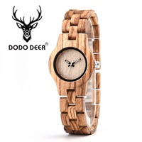 DODO DEER Luminous hand Ladies Luxury Watches Zebra Wooden Fashion Unique Women Quartz Watch relogio feminino Laser Design A06