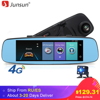 Junsun 4G Car DVR Mirror 7 86 Android GPS ADAS Remote Monitor Dual Lens Rear View