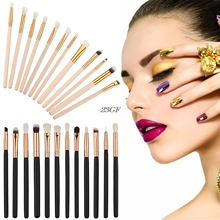 2017  12x Pro Makeup Brushes Set Foundation Powder Eyeshadow Eyeliner Lip Brush Tools  JUL25_46
