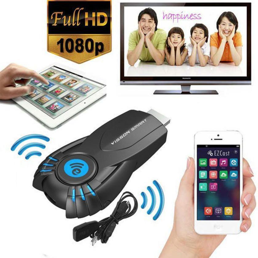 CARPRIE Home Audio Video Equipments TV Stick Visson V5ii Ezcast Wifi Display Smart TV Stick Media Player Dongle DLNA Airplay d29