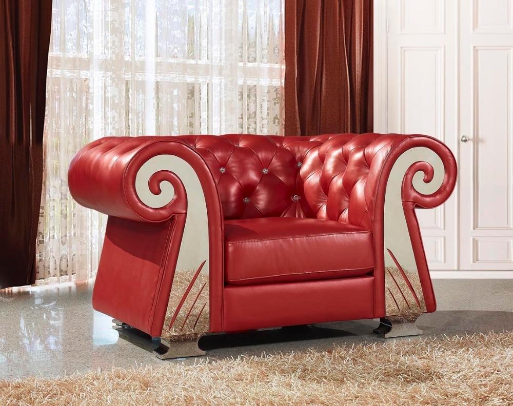 European style Luxury Villa Living Room Sofa Sofa Leather Sofa ...