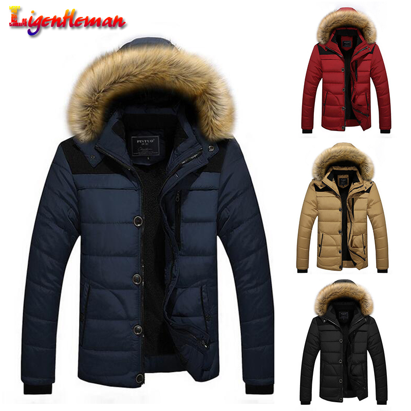 4 Colors Warm Jacket Arrival Men Hooded Casual Slim Parka Winter New 2019 Men's Brand Coat Warm Down Plus Size M-5XL