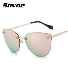 Snvne 2018 primera marca con las gafas de sol del ojo de gato Del Espejo gafas oculo de sol lentes oculos gafas de sol luneta de soleil muje Femenino