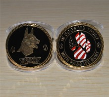 Dhl free shipping 10pcs/lot,Working Dog K9 Handler Military and Police Challenge Coin