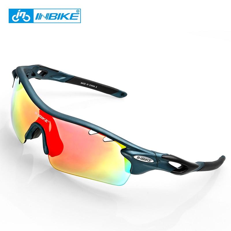 INBIKE Sport Polarized Cycling Glasses 5 Lens Clear MTB Bike Glasses Eyewear Outdoor Sport Running Driving Sunglasses Men Women