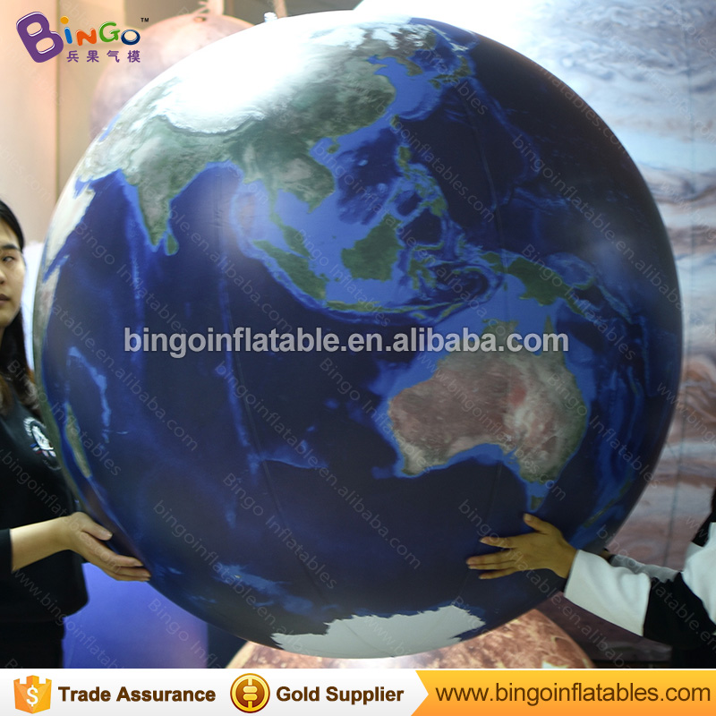 Commercial PVC inflatable Earth globe ball for stage decoration / geographical education advertising toyCommercial PVC inflatable Earth globe ball for stage decoration / geographical education advertising toy