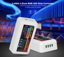цена на Free shippingMi Light FUT037 Wireless 2.4G 4-Zone RF Wireless RGB LED Controller for Flexible 5050 3528 RGB Led Strip Light Tape
