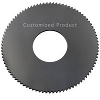 2Pcs Milling Saw Blade 100mm Circular Tipped Saw Blade Thickness 0.6mm to 3mm Solid Carbide Slotting Milling Cutter