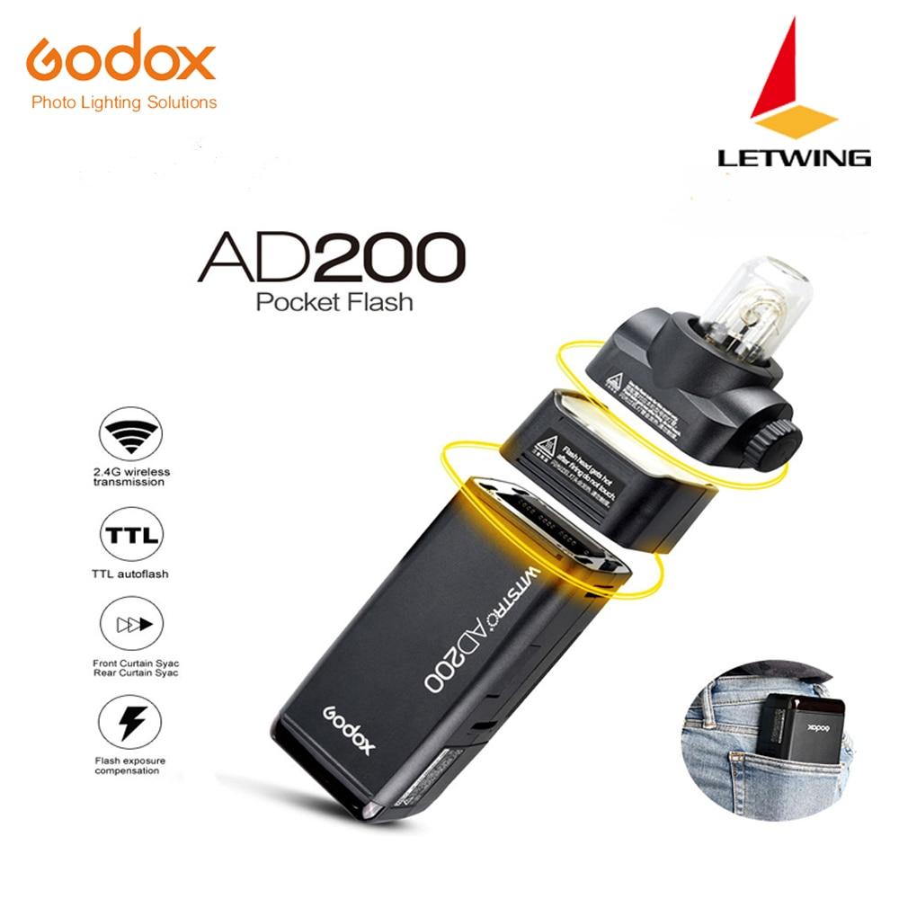 DHL 2017 Nuevo Godox AD200 Flash de bolsillo con 2 cabezales de luz - Cámara y foto - foto 1