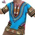 2016 Homens Do Moderno Dos Homens design de moda Africano Dashiki africano tradicional de impressão T tee vestido de Camisa mulheres bazin africano vestido