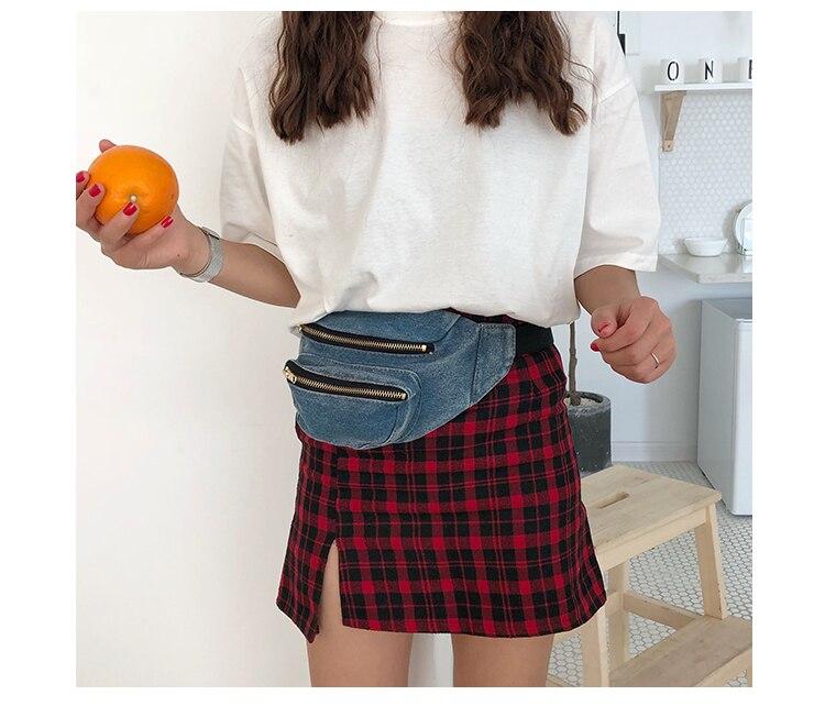 85e27b1f29f4a Denim Bag Waist Bags Women Designer Fanny Pack Fashion Belt Female ...