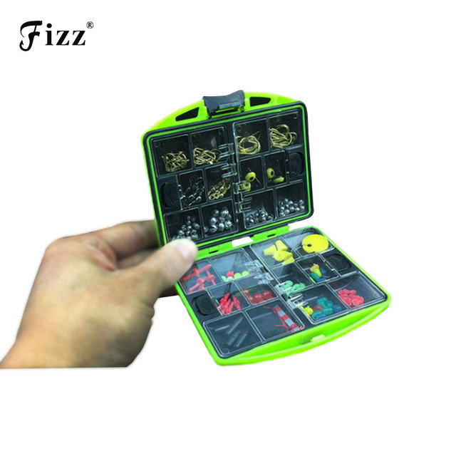 100 Pcs/Box Rock Fishing Accessories Box Surf Casting Fishing Tackle Box Swivel Jig Hooks Fishing Tools Set Fast Shipping