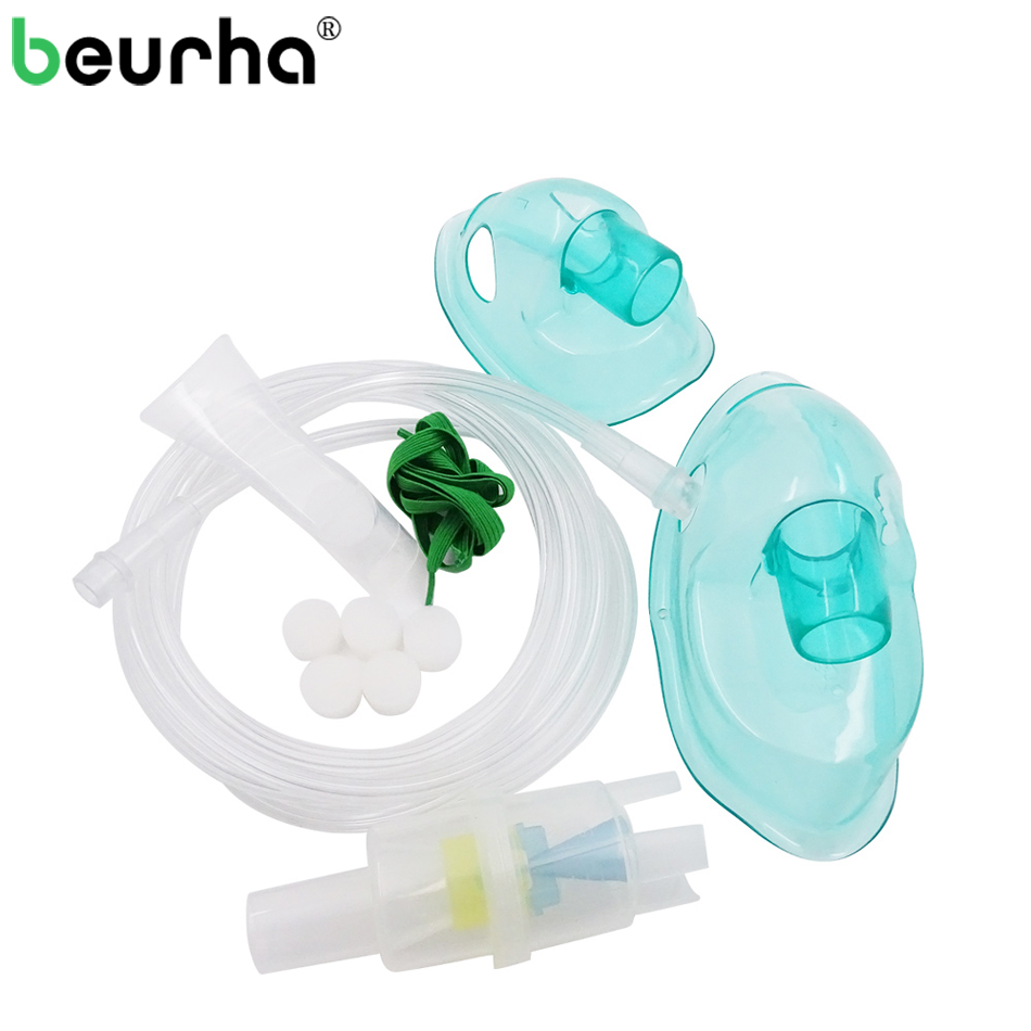Beurha Inhaler Set Accessories For Household Medical Compressor Nebulizer With Cup Mouthpieces Adult Child Aerosol Mask Filter family medicine household compressor inhale nebulizer cup mouthpieces for child adult mask inhaler set accessories massage