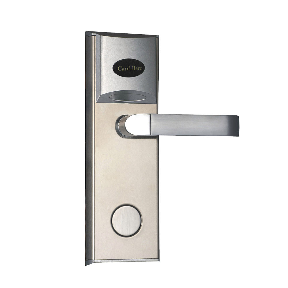 Electronic RFID Card Door Lock with Key Electric Lock For Home Hotel Apartment Office Smart Entry Latch with Deadbolt lk18ES1BS access control lock metal mute electric lock rfid security door lock em lock with rfid key card reader for apartment hot sale