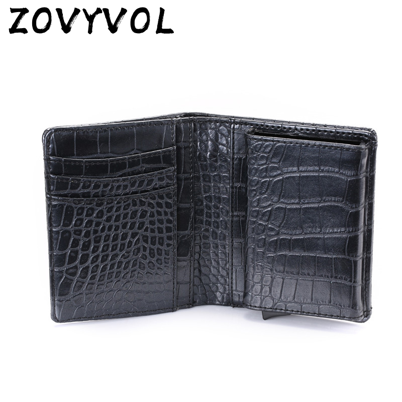 ZOVYVOL Minimalist Wallet RFID Card-Holder Blocking for Men Single-Box New-Style