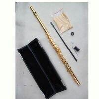 17 закрыть отверстие флейта настоящее золото тела и части вырезать логотип