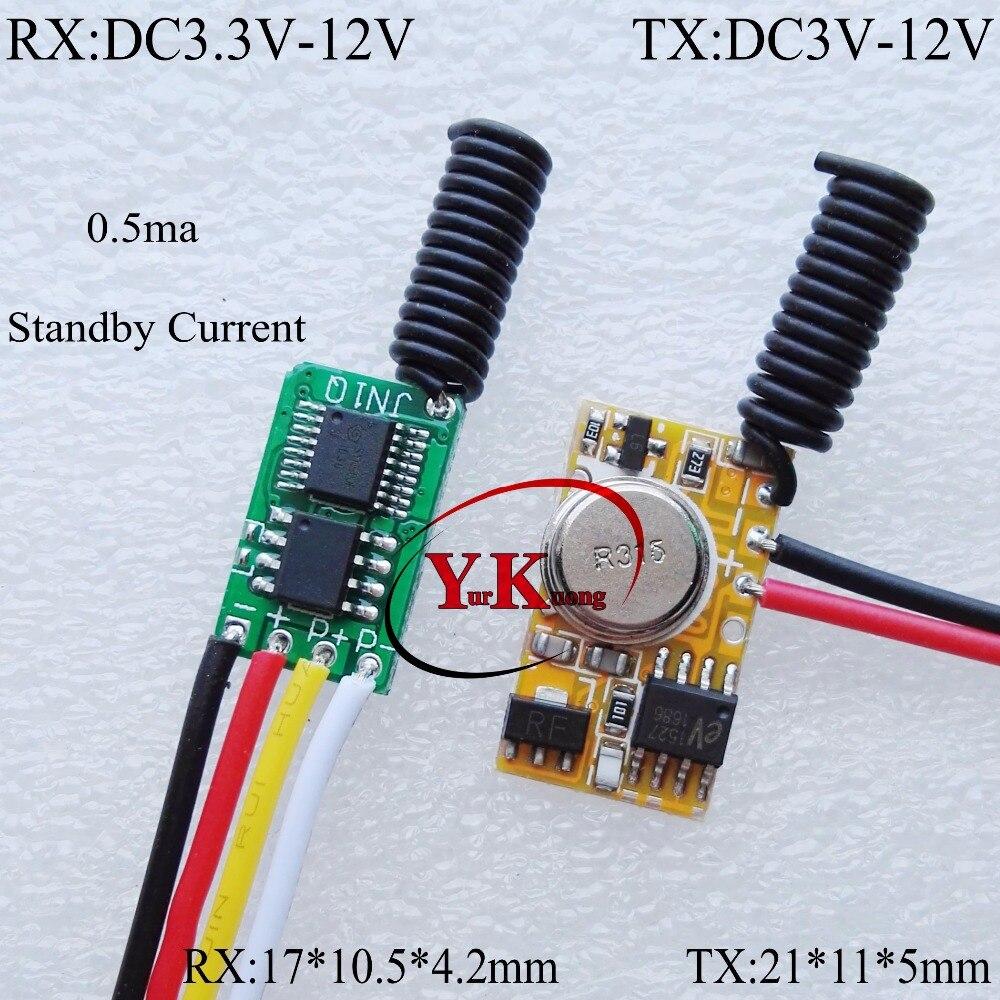 Low power consumption Micro Remote Switch Contactless No Noise 3.7V 4.5V 5V 6V 7.4V 9V 12V Transmitter PCB Circuit 1527 433Radio cltgxdd aj 131 micro switch 3 5 3 1 8 for citroen c1 c2 c3 c4 c5 c6 c8 remote key fob repair switch micro button