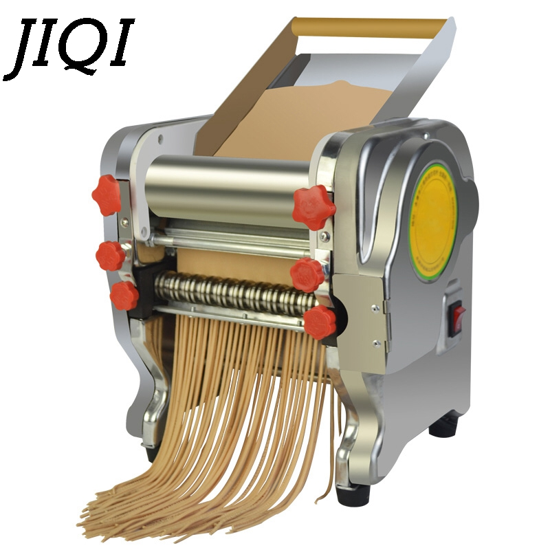 Aço inoxidável Pressionando Bolinho Máquina de Macarrão Elétrica Que Faz A máquina de Macarrão Comercial Cortador De Espaguete Dough Roller 3mm 9mm